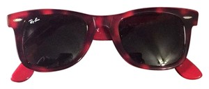 Ray-Ban Tortoise and Red Wayfarer Sunglasses