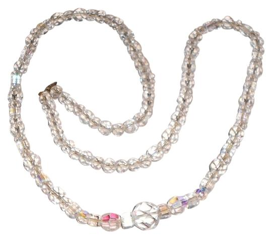 Preload https://item5.tradesy.com/images/white-clear-31-vintage-crystal-necklace-15703399-0-2.jpg?width=440&height=440