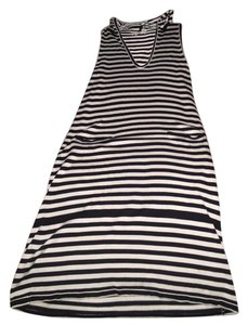 Max Mara short dress White and Navy Stripe Hoodie Hoodie Beachwear Coverup on Tradesy