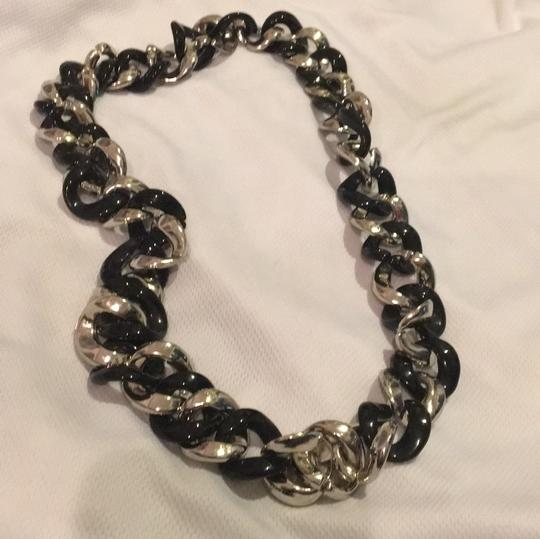Other Black Silver Link Necklace