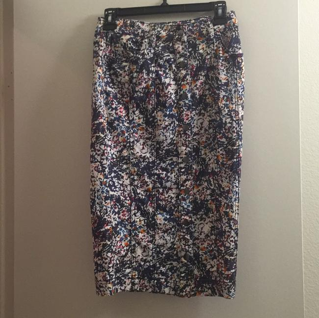 BCBGeneration short dress Navy/Floral on Tradesy