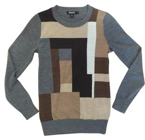 DKNY Merino Wool Pattern Modern Sweater