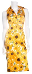 Dolce&Gabbana short dress Yellow Sunflower Print on Tradesy