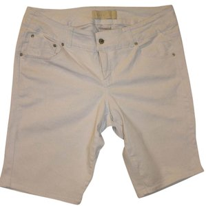 Z. Cavaricci Summer Beach Walking Jean Bermuda Shorts White