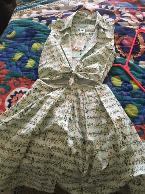 Urban Outfitters short dress Floral light mint on Tradesy
