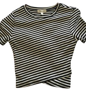 Urban Outfitters T Shirt Black and white stripped