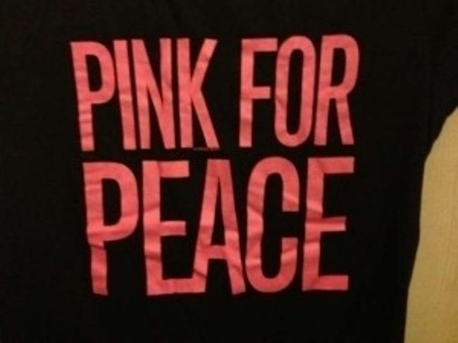 PINK Victoria's Secret By Victoria's Secret And Silver T Shirt black