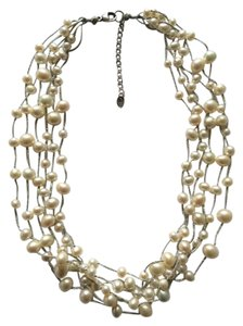 Lucky Brand Multi Strand Freshwater Pearl Necklace
