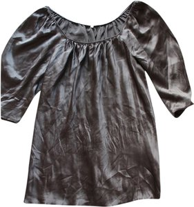 Matty M Gray Silk Top Grey