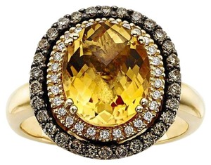LeVian Le Vian 14K Yellow Gold Diamond & Citrine Ring