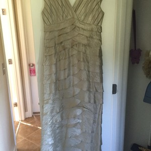 David's Bridal Gold/Tan Dress
