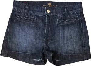 7 For All Mankind Shorts Dark Rinse