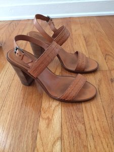Madewell Leather Casual Heels Camel Sandals