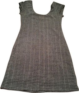 Free People short dress Gray Knee Mini Work Office Tee Shirt Tshirt Pattern on Tradesy