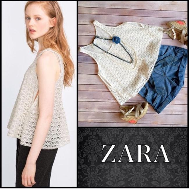 Zara Top Ecru
