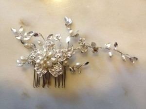 Silver with Pearls and Crystals Amazing Comb Hair Accessory