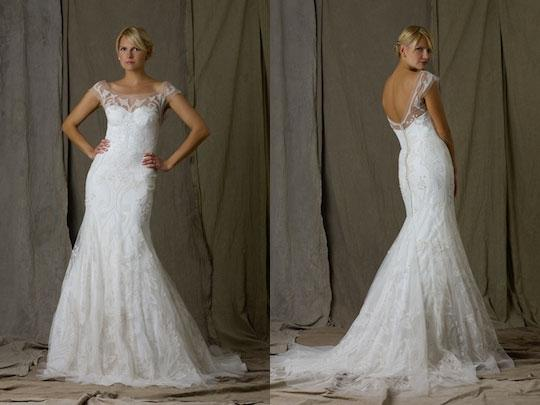 Lela Rose White Modern Wedding Dress Size 4 (S)