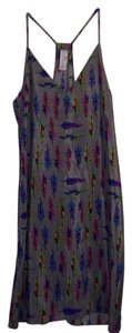 Amanda Uprichard Silk Feather Dress