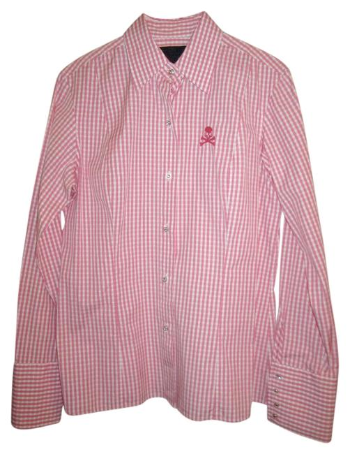 Preload https://img-static.tradesy.com/item/15706315/philipp-plein-pink-and-white-couture-gingham-skull-embroidery-crystalline-button-blouse-size-12-l-0-1-650-650.jpg