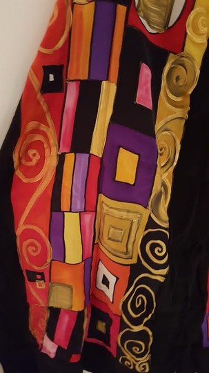 Silk by Laura Hand-Painted Multi-Color Silk Wrap