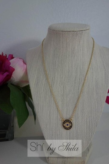 Other Gold Plated LUCKY EYES Evil Eye necklace Image 1