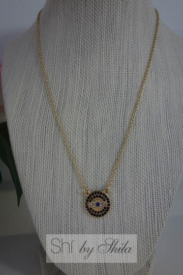 Other Gold Plated LUCKY EYES Evil Eye necklace Image 2