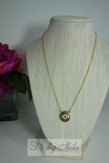 Other Gold Plated LUCKY EYES Evil Eye necklace Image 3