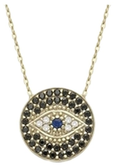 Other Gold Plated LUCKY EYES Evil Eye necklace Image 5