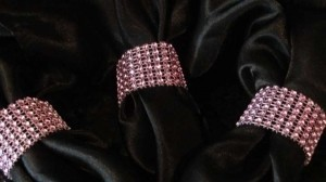 Bubble Gum Pink 100-pink Bling Napkin Rings Reception Decoration