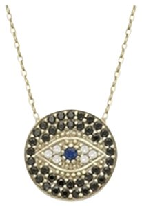 Gold Plated LUCKY EYES Evil Eye necklace