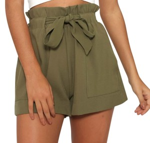 Free People Pockets Cute High Waist Mini/Short Shorts khaki
