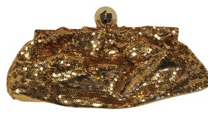 Kate Spade Metallic Glitter Chain Sequin Gold Clutch