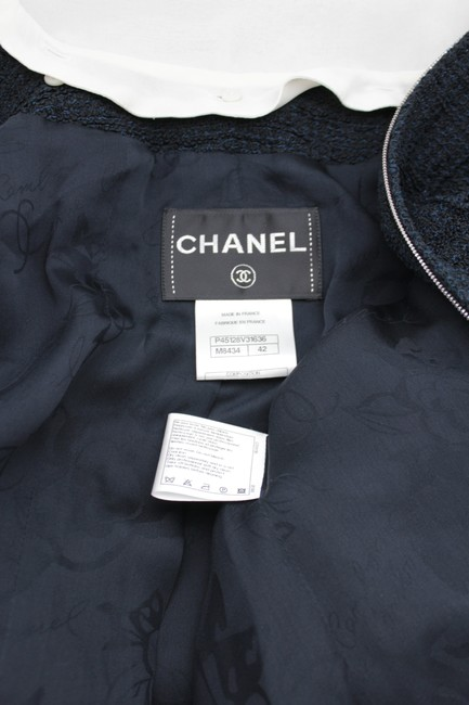 Chanel Women Women Long Cocktail Tie Military Jacket