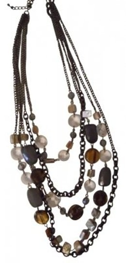 Cookie Lee Cookie Lee multi color stone & crystal necklace
