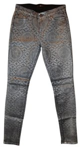 7 For All Mankind Makind Coated Skinny Jeans-Coated