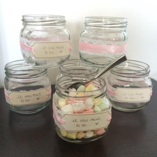 Preload https://img-static.tradesy.com/item/15707392/pink-lace-and-navy-blue-diy-mint-jars-0-0-540-540.jpg