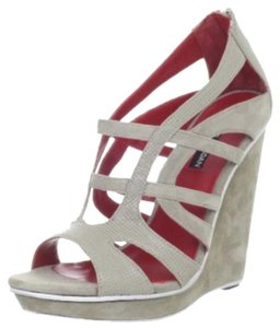 Charles Jourdan Gray Wedges