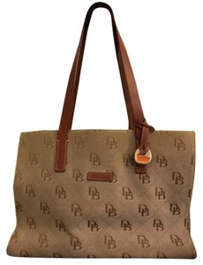 Dooney & Bourke Canvas Leather Monogram Shoulder Bag