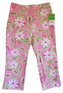 Lilly Pulitzer Paisley Cropped Capris Pink