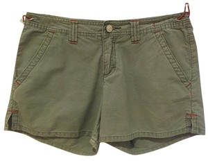 UNIONBAY Versatile Functional Pockets Toggle-waist Detail Distressed Casual Mini/Short Shorts Light Fatigue Green
