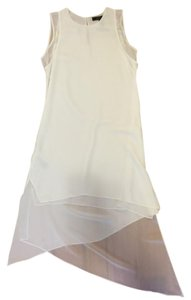 BCBGMAXAZRIA short dress White Flowy Aasymmetrical Sheer on Tradesy
