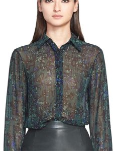 Jason Wu Silk Print Sheer Top