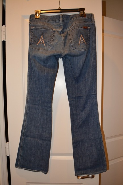 7 For All Mankind A Pocket Boot Cut Jeans-Medium Wash