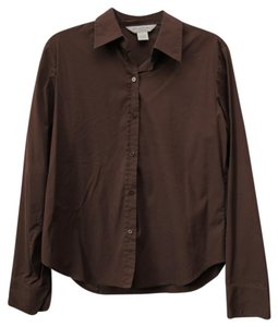 Brooks Brothers Cotton Stretch Button Down Shirt Brown