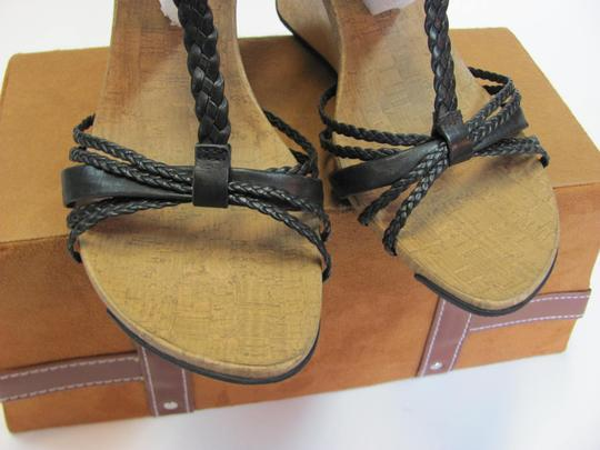 Kenneth Cole Reaction Leather Size 10.00 M Very Good Condition Black, Neutral, Wedges
