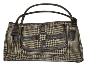 Chaps Houndstooth Snap Shoulder Bag