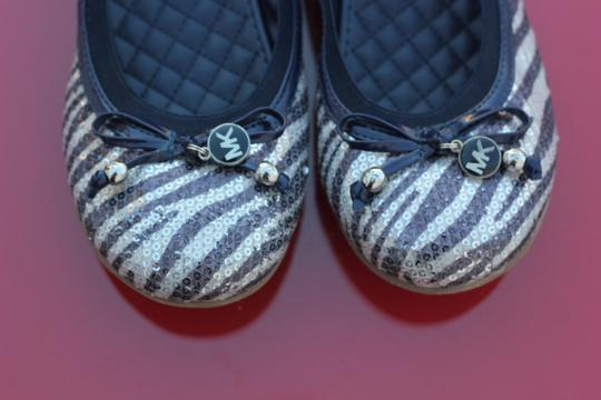 Michael Kors Blue and Silver Sequince Flats