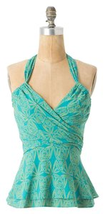 Anthropologie Summer Vanessa Virginia GREEN Halter Top