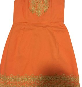 Mudpie short dress Coral and gold on Tradesy