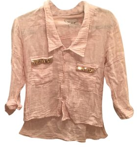 Vintage Havana Button Down Shirt Light pink